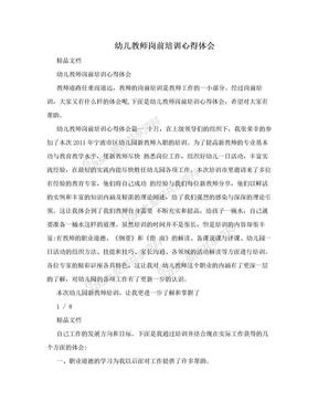 幼儿教师岗前培训心得体会.doc