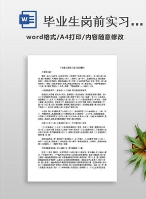 毕业生岗前实习总结范文精选.docx