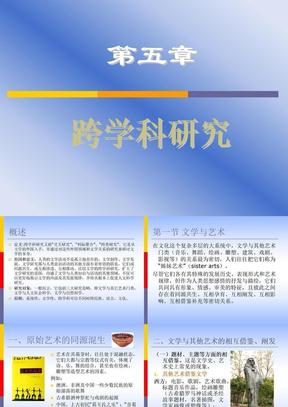 第五章跨学科研究2010.ppt