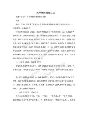 教师继续教育总结.doc