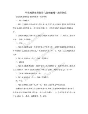 学校政教处班级量化管理细则—规章制度.doc