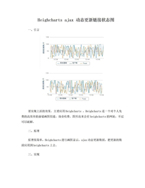 highcharts_ajax动态刷新连接状态图.doc