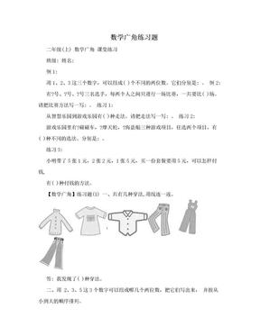 数学广角练习题.doc