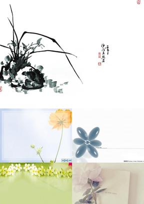一花一世界_超唯美超清新脱俗的花朵图片PPT背景图片大全(42张).ppt