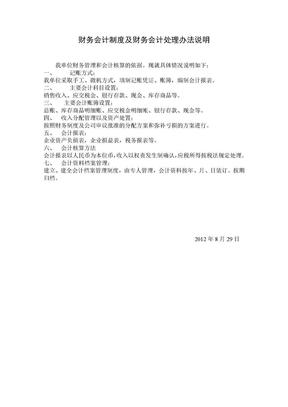 财务会计制度及财务会计处理办法说明.doc