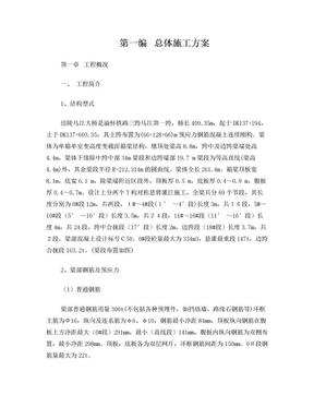 涪陵乌江大桥连续刚构施工工艺细则.doc