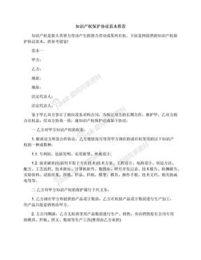 知识产权保护协议范本推荐.docx