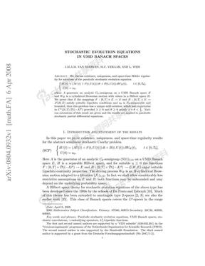 UMD Banach空间的随机卷积方程(英文版).pdf