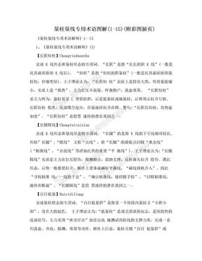 量柱量线专用术语图解(1-15)(附彩图插页).doc