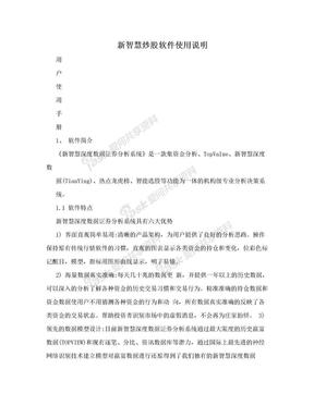新智慧炒股软件使用说明.doc