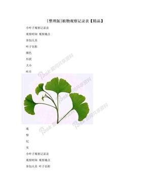 [整理版]植物观察记录表【精品】.doc
