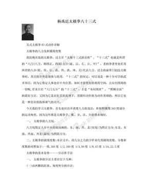 杨禹廷太极拳八十三式.doc