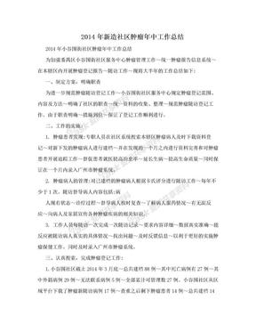 2014年新造社区肿瘤年中工作总结.doc