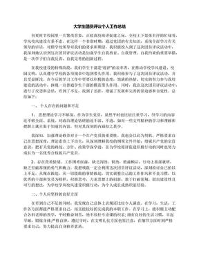 大学生团员评议个人工作总结.docx