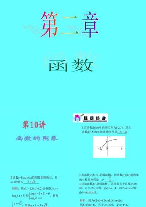 【恒心】2013届数学(理)第一轮第2章 第10讲 函数的图象.ppt