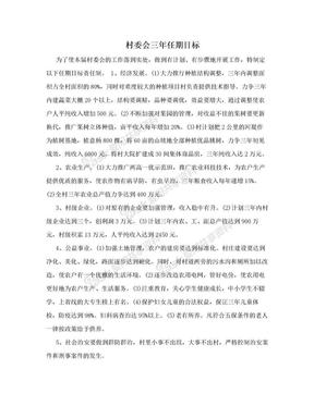 村委会三年任期目标.doc