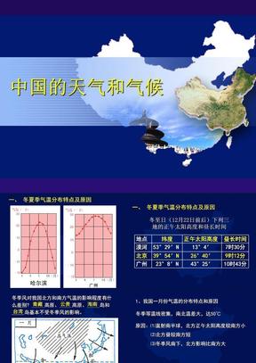 中国的天气和气候.ppt