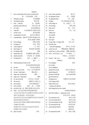 高三英语外研版高中英语必修4短语(2).doc