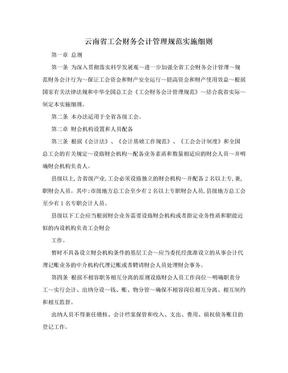 云南省工会财务会计管理规范实施细则.doc