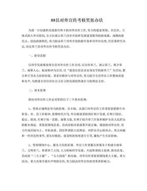 县对外宣传考核奖惩办法.doc