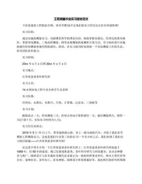 工程测量毕业实习报告范文.docx