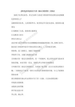 张庆生版《雍正剑侠图》人物表.doc