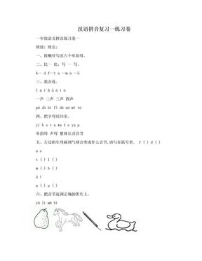 汉语拼音复习一练习卷.doc