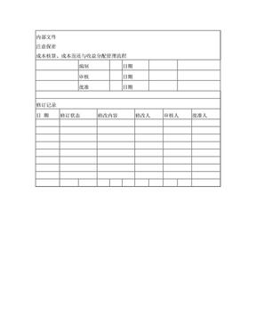 9-1成本核算、成本返还与收益分配管理流程.doc