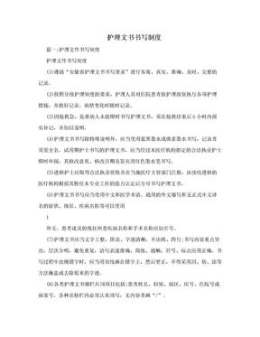 护理文书书写制度.doc
