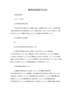 20110622烟草添加剂许可名录.doc