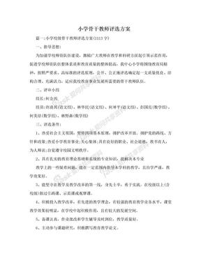 小学骨干教师评选方案.doc