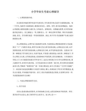 小学毕业生考前心理辅导.doc