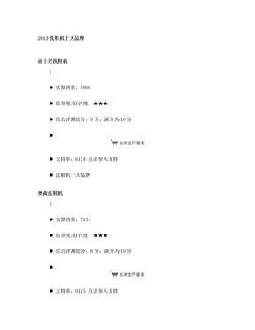 2013洗鞋机十大品牌.doc