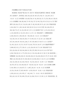 资产负债表水平分析.doc