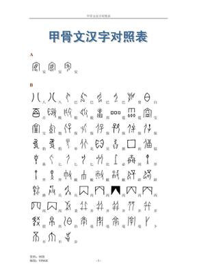 甲骨文汉字对照表.pdf