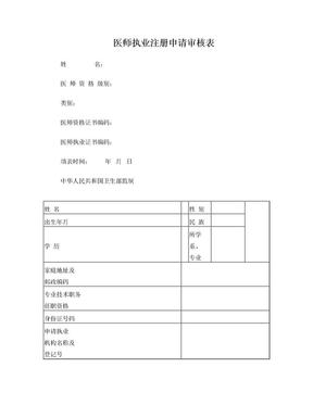 医师执业注册申请表.doc