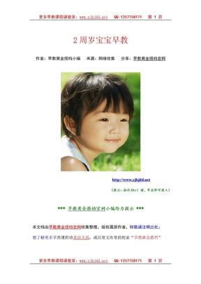 2周岁宝宝早教.doc