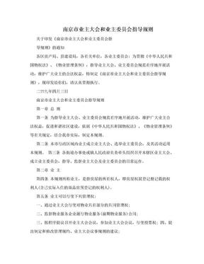 南京市业主大会和业主委员会指导规则.doc