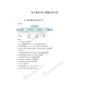 电子商务B2C商城运营方案.doc