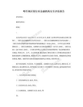 银行业金融机构安全评估报告.doc