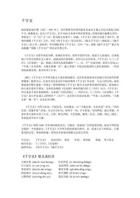 《千字文》原文及注音翻译.doc