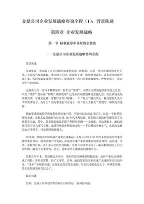 (新华信)金鼎公司企业发展战略咨询全程.doc