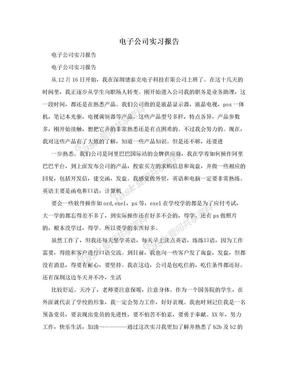 电子公司实习报告.doc