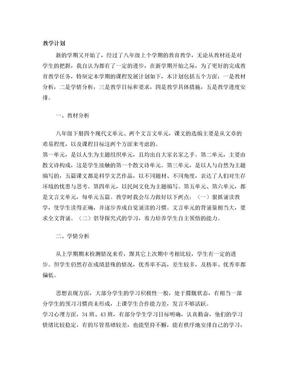 初中语文教学总结计划.doc