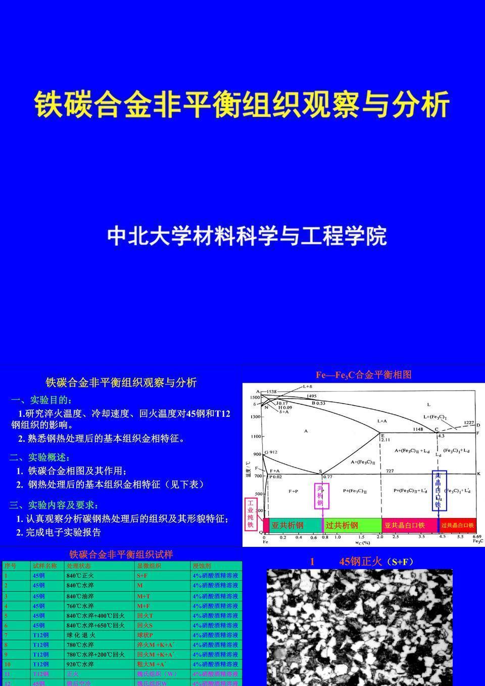 铁碳合金非平衡组织观察.ppt