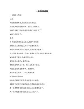 一年级造句集锦.docx