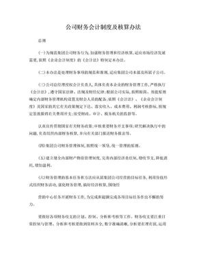 公司财务会计制度及核算办法.doc
