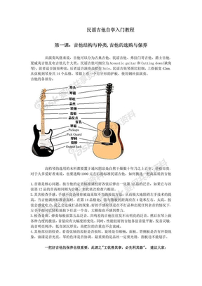 民谣吉他自学入门教程简约版.pdf