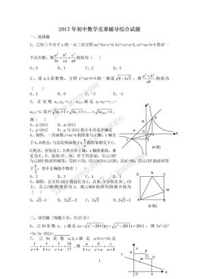 2017年初中数学竞赛辅导综合试题及答案.doc