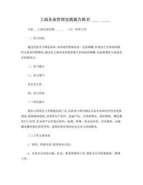 工商企业管理实践报告.doc